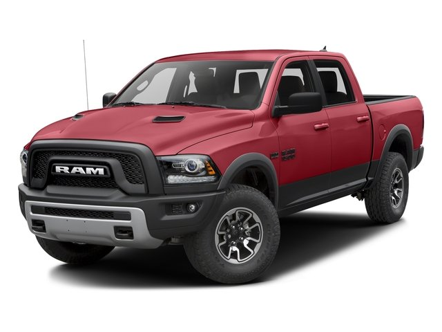 Flame Red Clearcoat 2016 Ram Truck 1500 Pictures 1500 Crew Cab Rebel 2WD photos front view