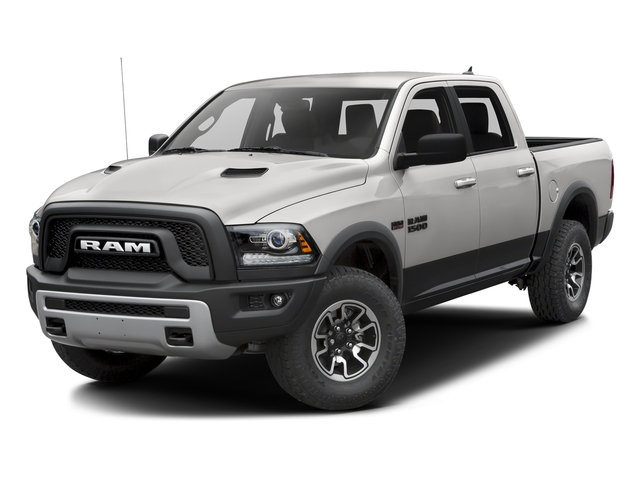 Bright Silver Metallic Clearcoat 2016 Ram Truck 1500 Pictures 1500 Crew Cab Rebel 2WD photos front view