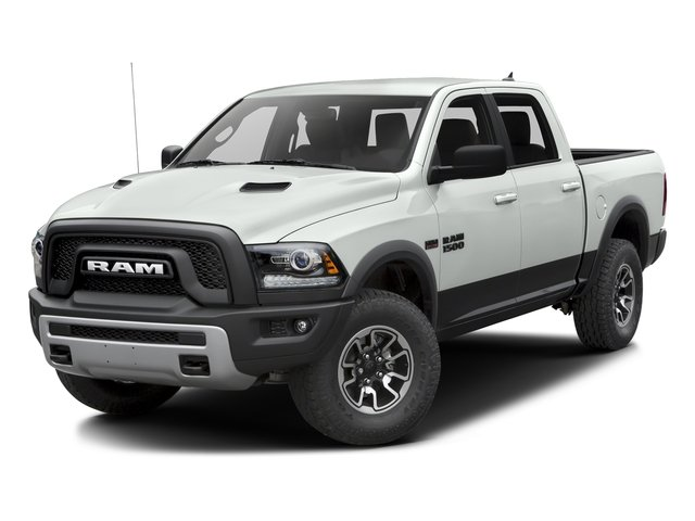 Bright White Clearcoat 2016 Ram Truck 1500 Pictures 1500 Crew Cab Rebel 2WD photos front view