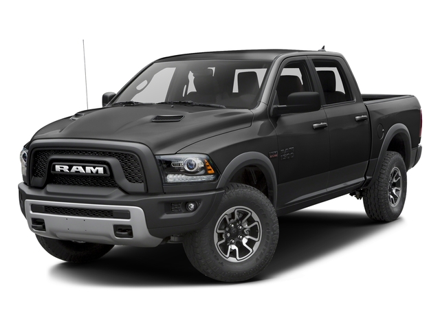 Brilliant Black Crystal Pearlcoat 2016 Ram Truck 1500 Pictures 1500 Crew Cab Rebel 2WD photos front view