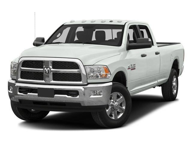 Bright White Clearcoat 2016 Ram Truck 3500 Pictures 3500 Crew Cab SLT 4WD photos front view