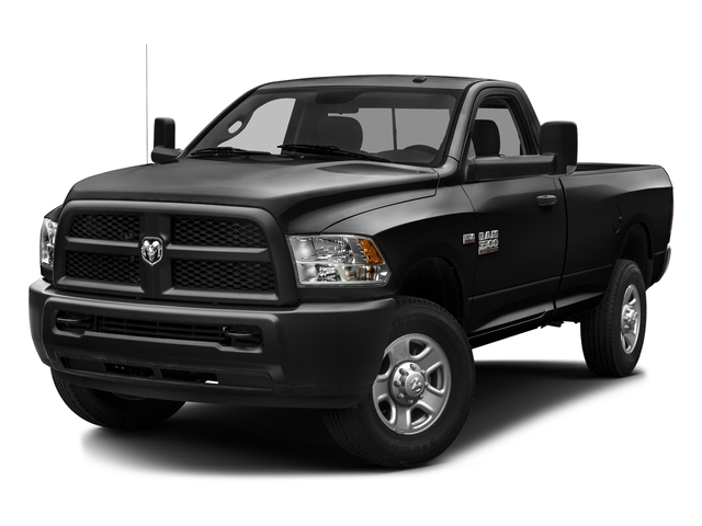 Black Clearcoat 2016 Ram Truck 3500 Pictures 3500 Regular Cab SLT 2WD photos front view