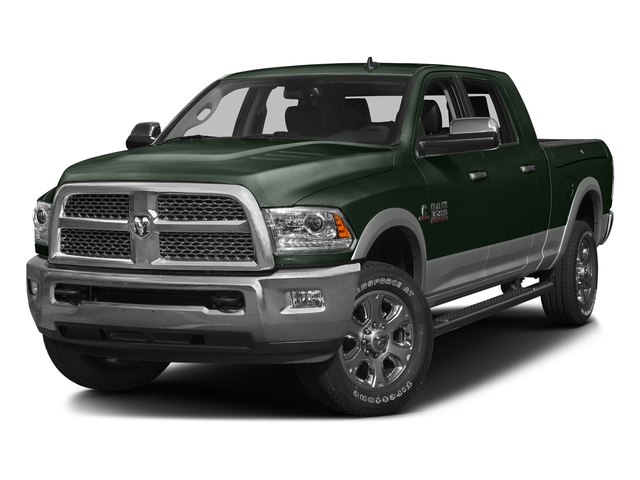 Black Forest Green Pearlcoat 2016 Ram Truck 3500 Pictures 3500 Mega Cab Laramie 2WD photos front view