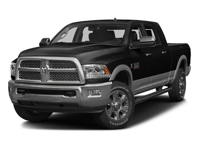 Brilliant Black Crystal Pearlcoat 2016 Ram Truck 3500 Pictures 3500 Mega Cab Laramie 2WD photos front view