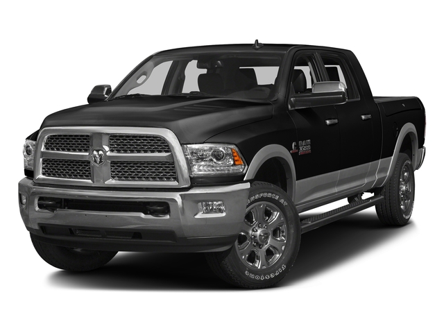 Brilliant Black Crystal Pearlcoat 2016 Ram Truck 3500 Pictures 3500 Mega Cab SLT 2WD photos front view