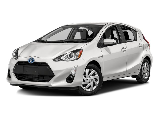 Super White 2016 Toyota Prius c Pictures Prius c Liftback 5D c I4 Hybrid photos front view