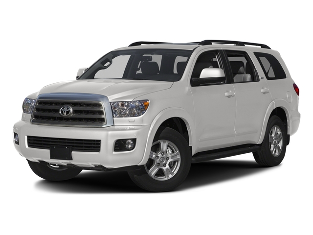 Super White 2016 Toyota Sequoia Pictures Sequoia Utility 4D SR5 2WD V8 photos front view