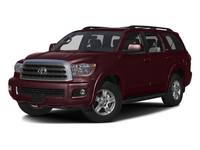 Sizzling Crimson Mica 2016 Toyota Sequoia Pictures Sequoia Utility 4D SR5 2WD V8 photos front view