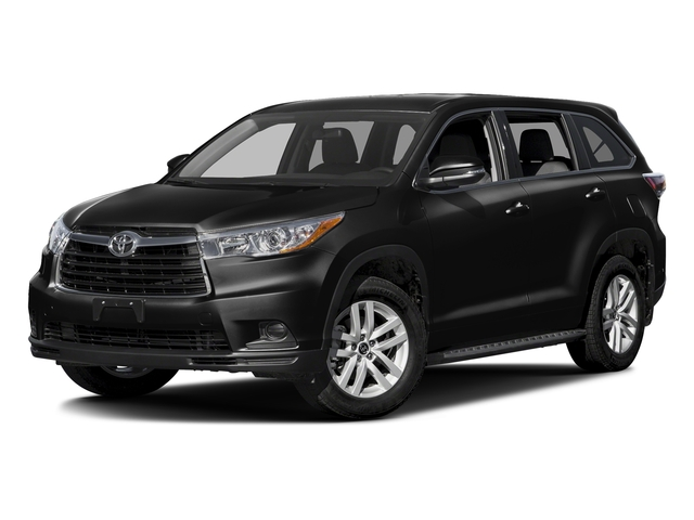 Midnight Black Metallic 2016 Toyota Highlander Pictures Highlander Utility 4D LE 2WD I4 photos front view
