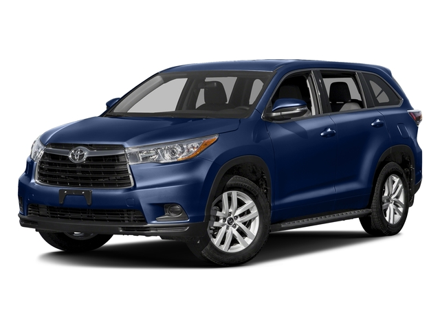 Nautical Blue Metallic 2016 Toyota Highlander Pictures Highlander Utility 4D LE 2WD I4 photos front view