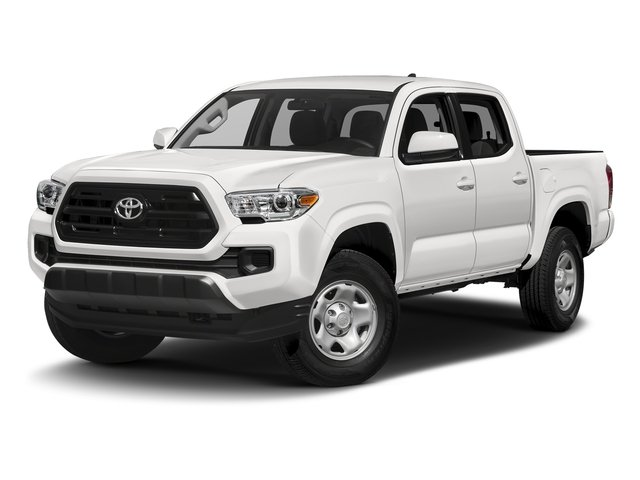 Super White 2016 Toyota Tacoma Pictures Tacoma SR Crew Cab 4WD V6 photos front view