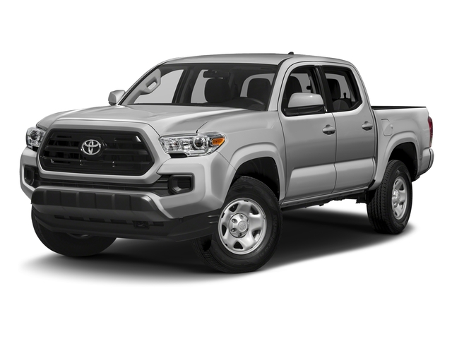 Silver Sky Metallic 2016 Toyota Tacoma Pictures Tacoma SR Crew Cab 4WD V6 photos front view