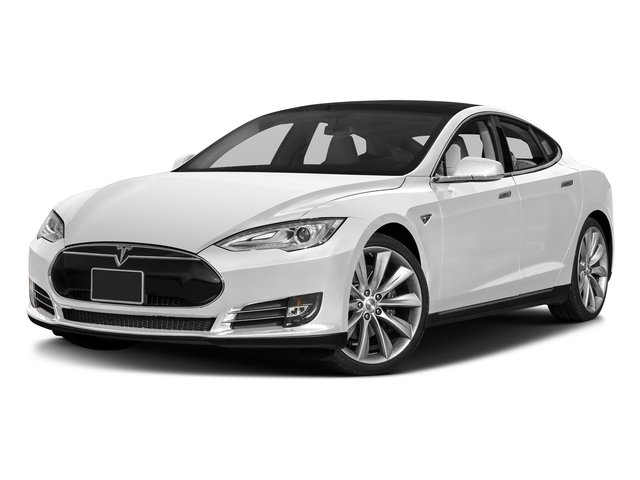 Solid White 2016 Tesla Motors Model S Pictures Model S Sed 4D D Performance 90 kWh AWD Elec photos front view