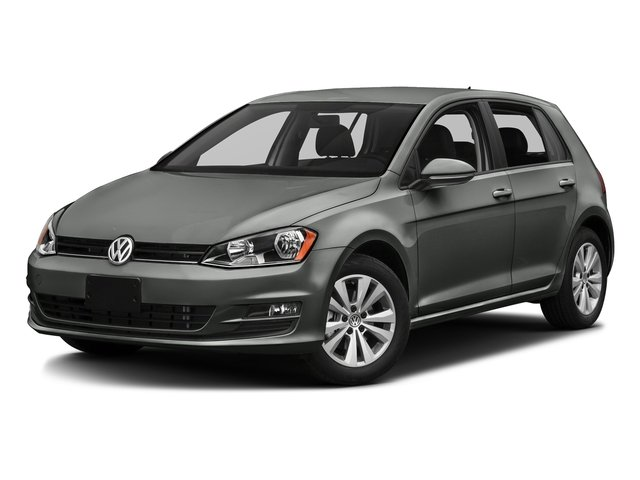 Platinum Gray Metallic 2016 Volkswagen Golf Pictures Golf Hatchback 4D S I4 Turbo photos front view