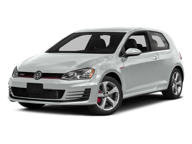 Pure White 2016 Volkswagen Golf GTI Pictures Golf GTI Hatchback 2D SE I4 Turbo photos front view