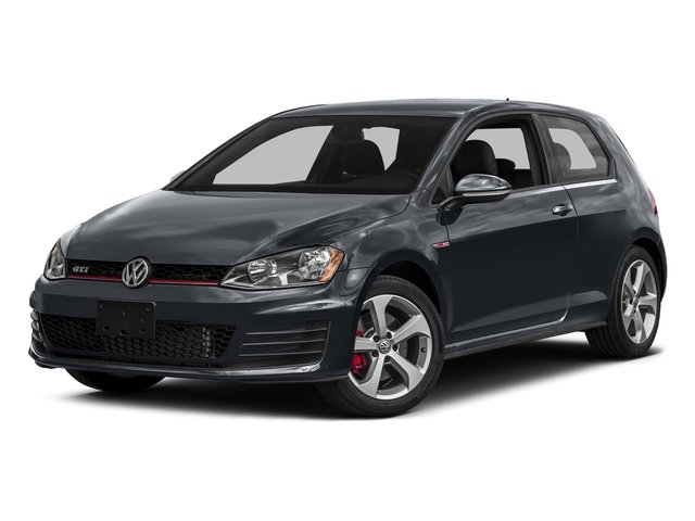 Carbon Steel Gray Metallic 2016 Volkswagen Golf GTI Pictures Golf GTI Hatchback 2D SE I4 Turbo photos front view