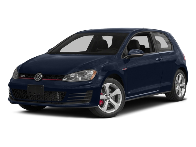 Night Blue Metallic 2016 Volkswagen Golf GTI Pictures Golf GTI Hatchback 2D SE I4 Turbo photos front view