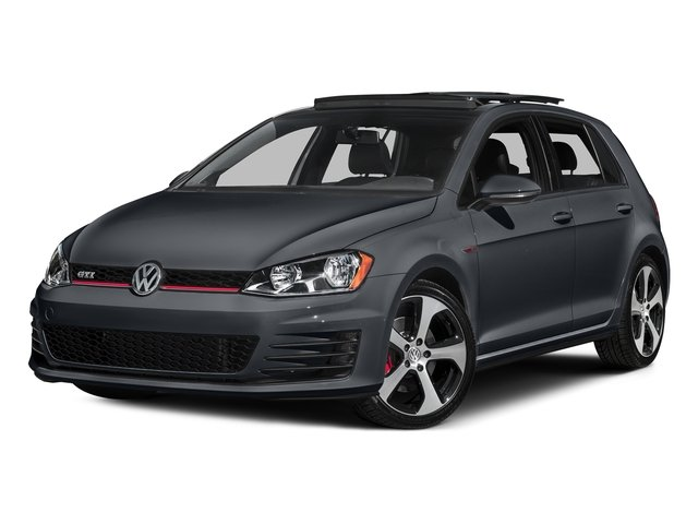 Carbon Steel Gray Metallic 2016 Volkswagen Golf GTI Pictures Golf GTI Hatchback 4D S I4 Turbo photos front view