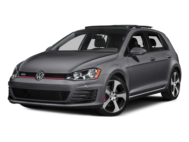 Deep Black Pearl 2016 Volkswagen Golf GTI Pictures Golf GTI Hatchback 4D S I4 Turbo photos front view