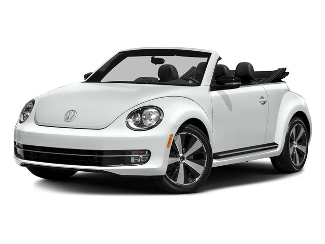 Pure White/Black Roof 2016 Volkswagen Beetle Convertible Pictures Beetle Convertible Convertible 2D SEL I4 Turbo photos front view