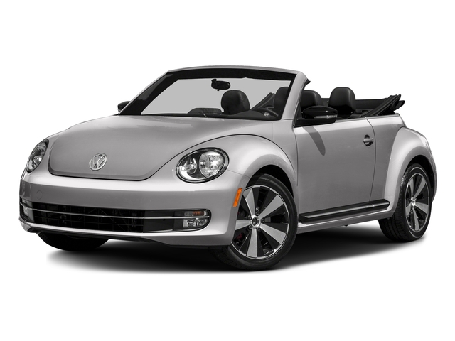 Reflex Silver Metallic/Black Roof 2016 Volkswagen Beetle Convertible Pictures Beetle Convertible Convertible 2D SEL I4 Turbo photos front view