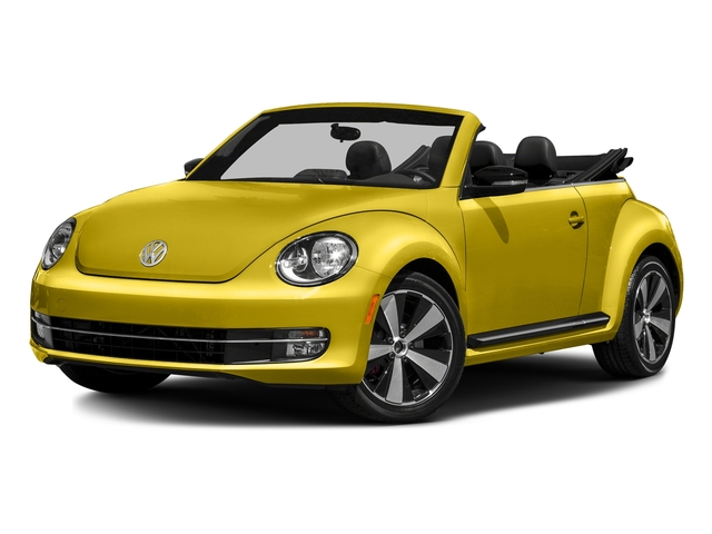 Yellow Rush/Black Roof 2016 Volkswagen Beetle Convertible Pictures Beetle Convertible Convertible 2D SEL I4 Turbo photos front view