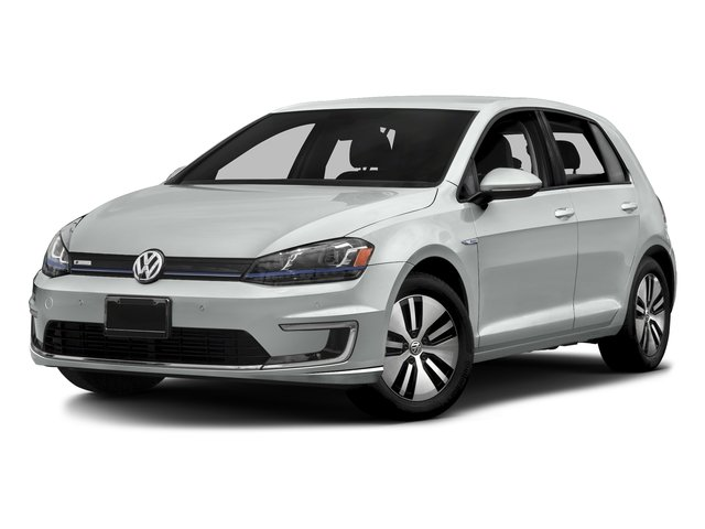 Pure White 2016 Volkswagen e-Golf Pictures e-Golf Hatchback 4D e-Golf SEL Electric photos front view
