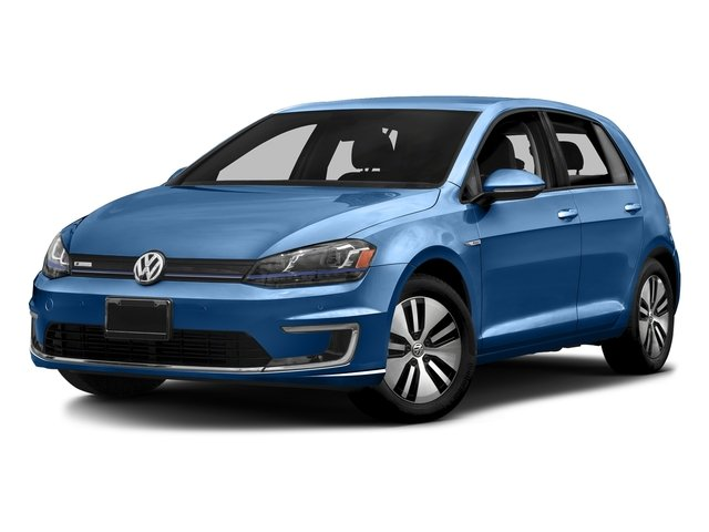 Pacific Blue 2016 Volkswagen e-Golf Pictures e-Golf Hatchback 4D e-Golf SEL Electric photos front view
