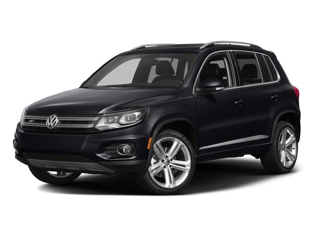 Deep Black Pearl 2016 Volkswagen Tiguan Pictures Tiguan Utility 4D R-Line 2WD I4 Turbo photos front view