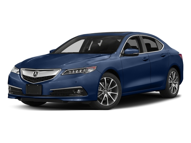 Fathom Blue Pearl 2017 Acura TLX Pictures TLX Sedan 4D Advance AWD V6 photos front view