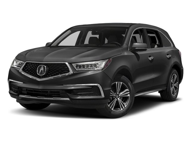 Modern Steel Metallic 2017 Acura MDX Pictures MDX Utility 4D AWD V6 photos front view