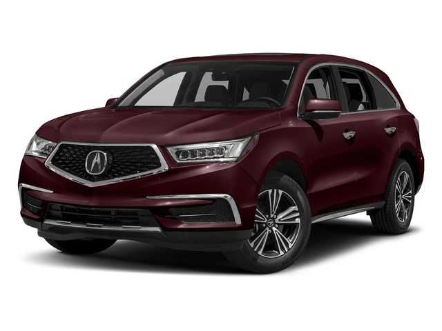 Dark Cherry Pearl 2017 Acura MDX Pictures MDX SH-AWD photos front view