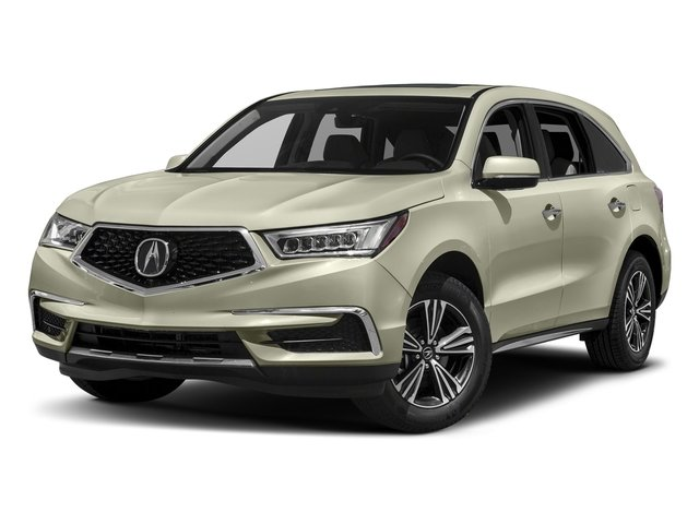 White Diamond Pearl 2017 Acura MDX Pictures MDX Utility 4D AWD V6 photos front view