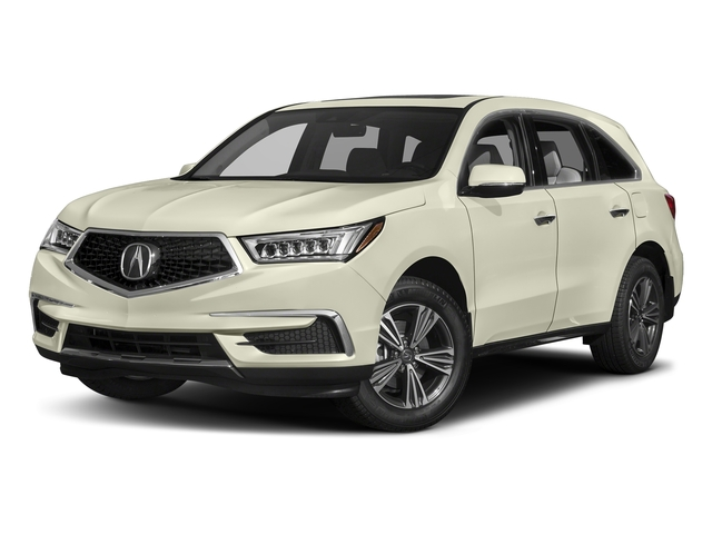 White Diamond Pearl 2017 Acura MDX Pictures MDX Utility 4D 2WD V6 photos front view