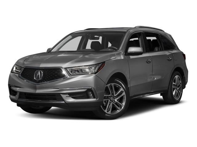 Modern Steel Metallic 2017 Acura MDX Pictures MDX Utility 4D Advance 2WD V6 photos front view
