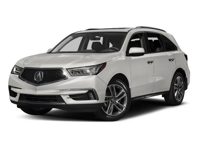 White Diamond Pearl 2017 Acura MDX Pictures MDX Utility 4D Advance 2WD V6 photos front view