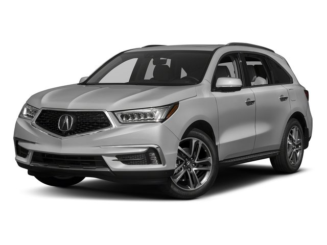 Lunar Silver Metallic 2017 Acura MDX Pictures MDX Utility 4D Advance AWD V6 photos front view