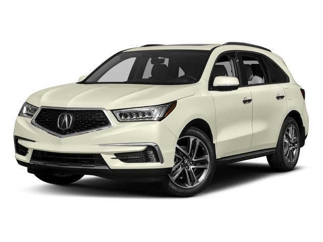White Diamond Pearl 2017 Acura MDX Pictures MDX Utility 4D Advance AWD V6 photos front view