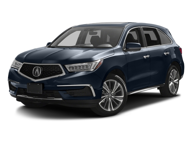Fathom Blue Pearl 2017 Acura MDX Pictures MDX Utility 4D Technology 2WD V6 photos front view
