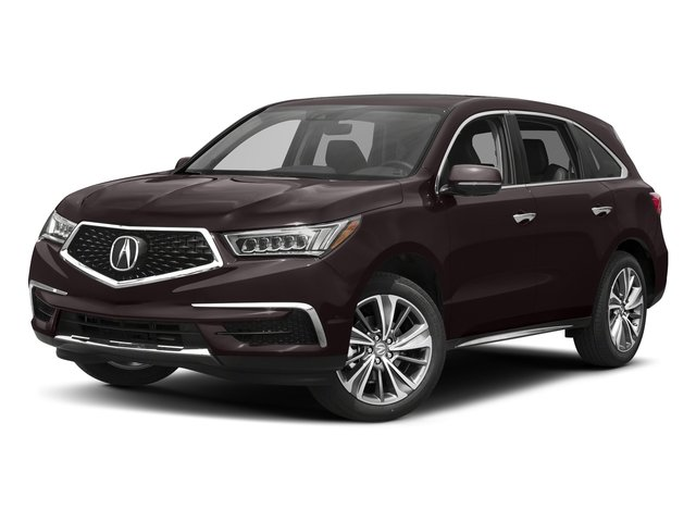 Black Copper Pearl 2017 Acura MDX Pictures MDX Utility 4D Technology AWD V6 photos front view