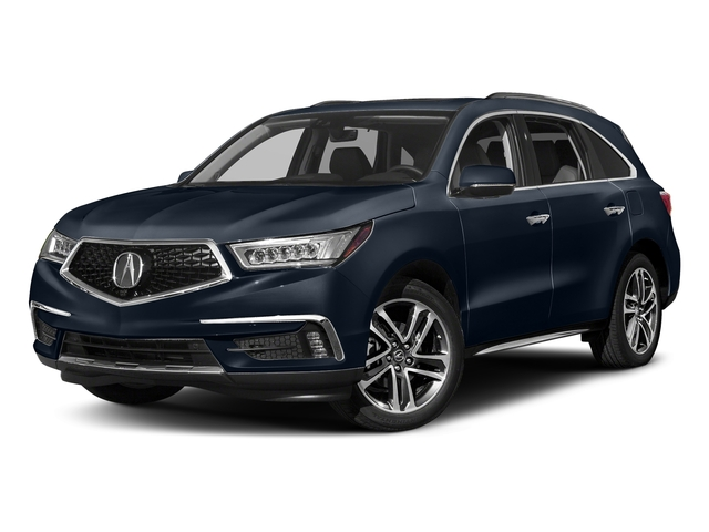Fathom Blue Pearl 2017 Acura MDX Pictures MDX Utility 4D Advance DVD AWD V6 photos front view