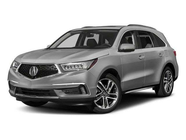 Lunar Silver Metallic 2017 Acura MDX Pictures MDX Utility 4D Advance DVD AWD V6 photos front view