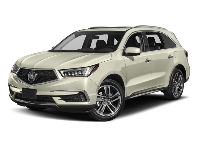 White Diamond Pearl 2017 Acura MDX Pictures MDX Utility 4D Advance DVD 2WD V6 photos front view