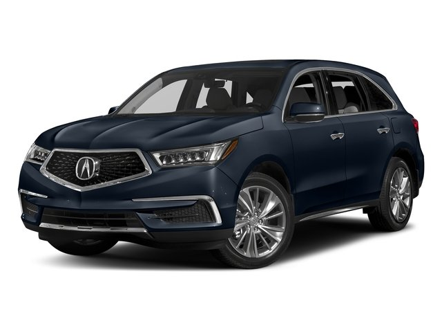 Fathom Blue Pearl 2017 Acura MDX Pictures MDX Utility 4D Technology DVD 2WD V6 photos front view