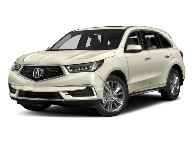 White Diamond Pearl 2017 Acura MDX Pictures MDX Utility 4D Technology DVD 2WD V6 photos front view