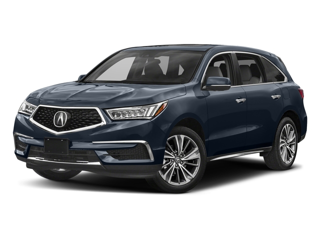 Fathom Blue Pearl 2017 Acura MDX Pictures MDX Utility 4D Technology DVD AWD V6 photos front view