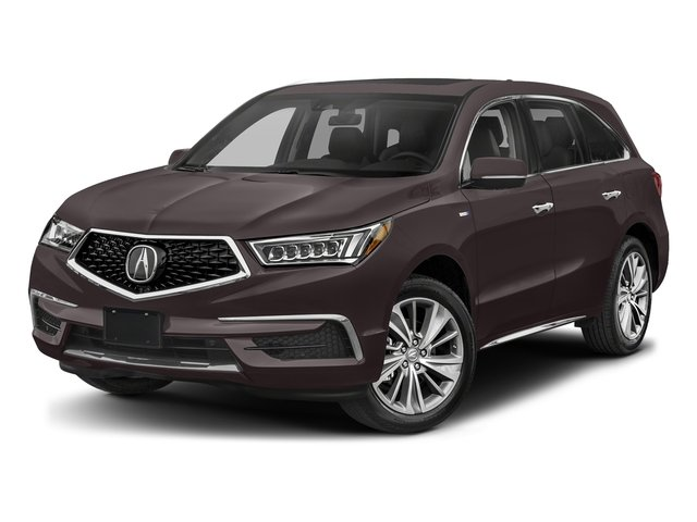 Black Copper Pearl 2017 Acura MDX Pictures MDX SH-AWD Sport Hybrid w/Technology Pkg photos front view