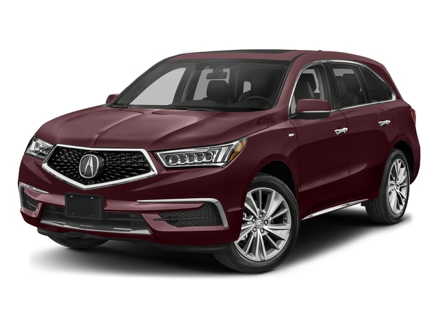 Dark Cherry Pearl 2017 Acura MDX Pictures MDX SH-AWD Sport Hybrid w/Technology Pkg photos front view