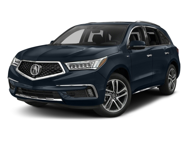 Fathom Blue Pearl 2017 Acura MDX Pictures MDX SH-AWD Sport Hybrid w/Advance Pkg photos front view