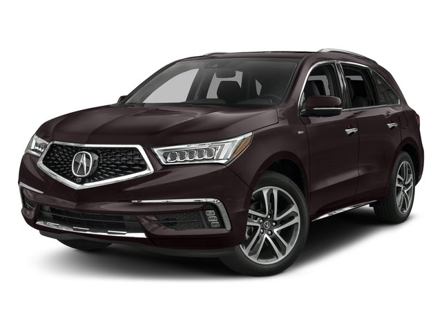 Black Copper Pearl 2017 Acura MDX Pictures MDX SH-AWD Sport Hybrid w/Advance Pkg photos front view